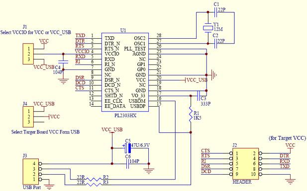 USB to RS232 Module Based TTL PC PL2303 PL2303HX