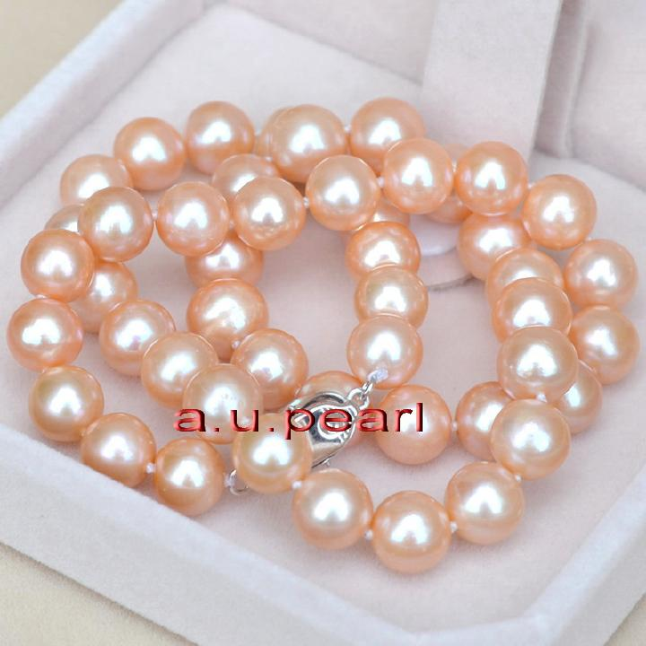8 inch Length AAA Best Quality Natural Wholesale Price LB-1311 Pink South Sea Pearl Smooth round Ball 12mm Loose Beads