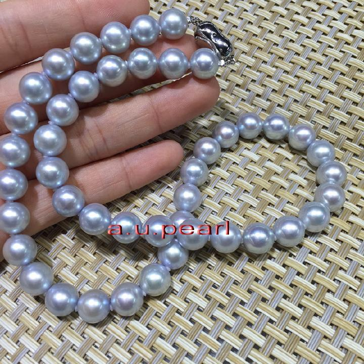 """HUGE 11-12MM PERFECT ROUND SOUTH SEA GENUINE WHITE PEARL NECKLACE 20/"""" AAAA+"""